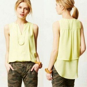 Anthropologie Meave Keyhole Switch Back Tank
